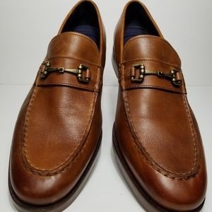 Cole Haan Grand.OS Men Brown Bit Loafers Size 12
